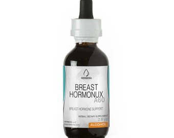 Breast Hormonux Alcohol Herbal Extract Tincture, Super-Concentrated Organic(Burdock Root,Dandelion Root,Yarrow Leaf and Flower)