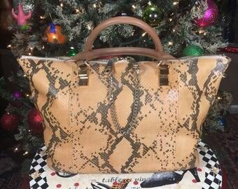 Chloe Brown Snakeskin Hand bag Pre-owned