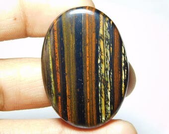 Rare ! Awesome quality Tiger iron gemstone Cabochons Tiger iron Excellent cabochons Designer Amazing loose gemstone 90.00cts (42x30x5)mm.