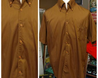 Vintage Sateen Weave Brown shirt