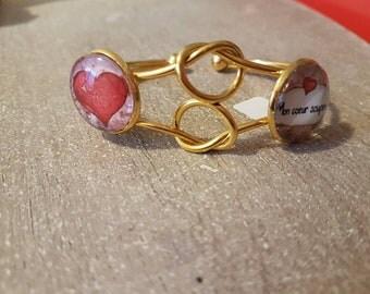 Bracelet double cabochon