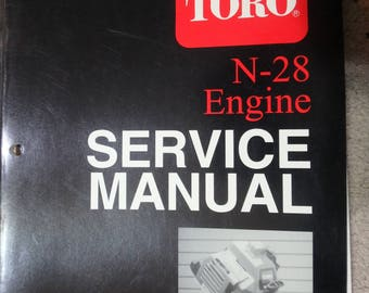 Toro N-28 engine service manual- 1986