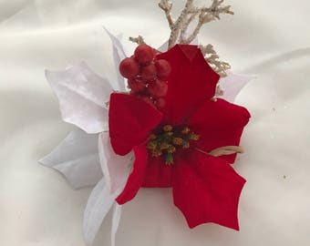 Holiday Poinsettia Headband
