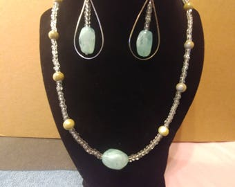 Sky Blue Necklace and Earring set