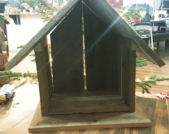 Reclaimed Lumber Crèche