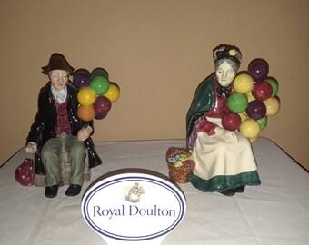 The Balloon Man HN1954 & The Old Balloon Seller HN1315