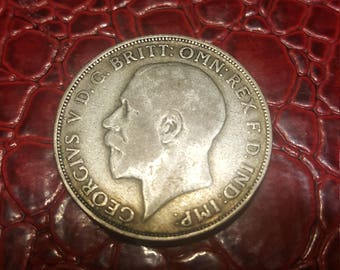 1923 Great Britain Uncertified Silver George V Florin