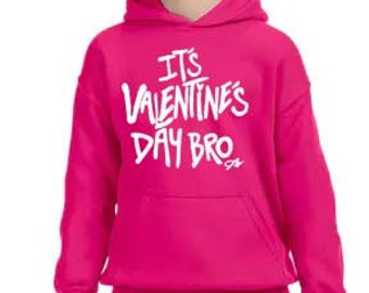Jake Paul Its Valentine's Day Bro  Youth hoodie. 100% COTTON. Jake Paul Merch
