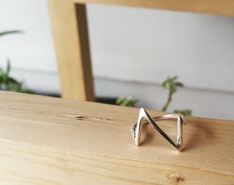925 Sterling Silver Zigzag Ring