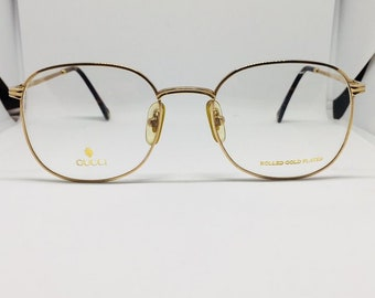 Gucci rare eyeglasses lunette gold plated