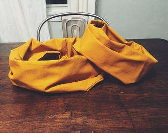 MOMMY AND ME- scarf set, matching, mustard scarves