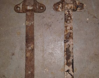 Antique Door Hinges, set of two