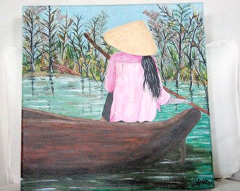 Painting woman on the water