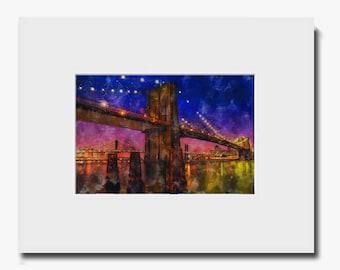 Brooklyn Bridge Twilight - Fine Art Print