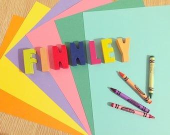 Personalised crayons