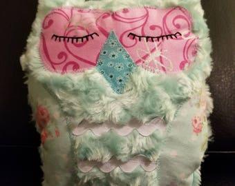Soft plush owl / Stuffed Owl / Baby Shower Gift / Gift for Baby / Toddler Gift / Softie Owl / Blue Owl / Handmade Plushie / Handmade Owl