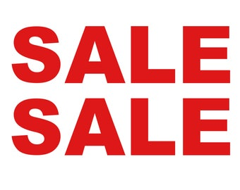 2x SALE Shop Window Retail Sign High Quality Vinyl Stickers Decals 72 cm x 19 cm