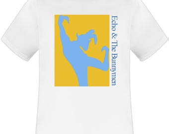 Echo And The Bunnymen 80s Tour white t shirt