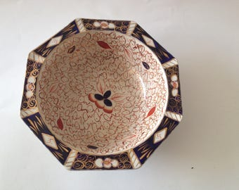 19th Century  English Large Dish from WADE factory , Iron Red Maker Marks Wade England with Numbers & Sotheby's label