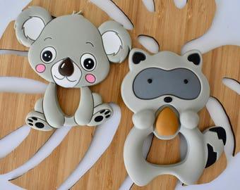 Koala Raccoon Animal (was teething) Silicone Sensory