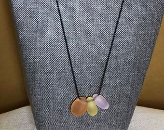 Cultured seaglass necklace, Sea glass necklace, seaglass pendant, Seaglass jewelry, Seaglass necklace, pendant necklace, gift for her