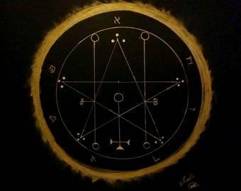 Astaroth Goetia gold sigil.