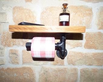 Toilet Paper Holder Urban Industrial Vintage Pipe