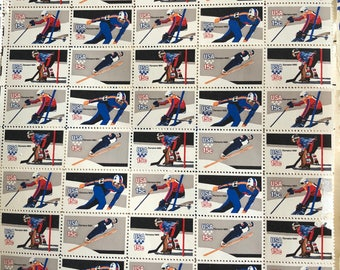 1980 USA Winter Olympics Stamps - Two FULL Sheets - Lake Placid Olympic Winter Games
