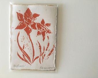 A5 Daffodil Test Print