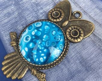 Antique Bronze Plated Owl Pendant