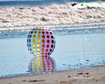 Beach Ball at Sea