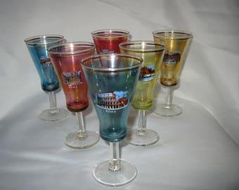 Italian souvenir cordial glasses