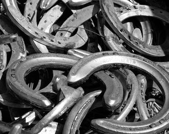 Photograph of Used Horse Shoes