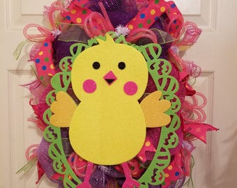 Here Chick Chick Wreath
