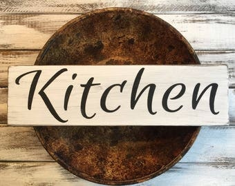 Kitchen hanging wood sign home decor farmhouse family gift cook chef