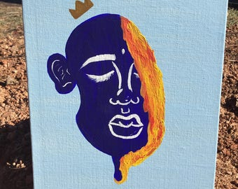 Painting on acrylic