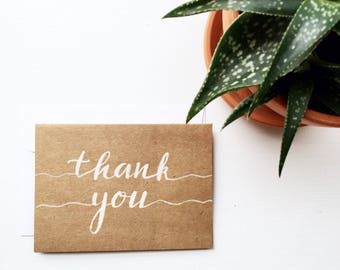Hand Lettered Thank You Cards (Set of 5)