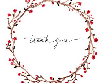 Thank You Greeting Cards - Set of 5