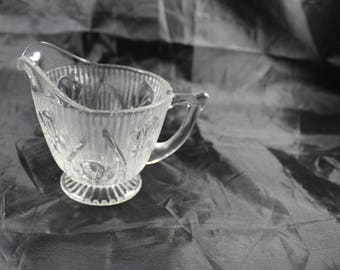 Jeannette Glass Creamer Iris  One