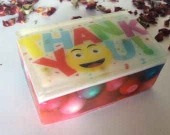 Handmade organic soap, thank you imagebar soap