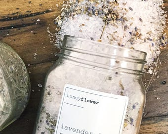 Lavender & Rose Bath Salts   Bath soak   Moisturizing and calming