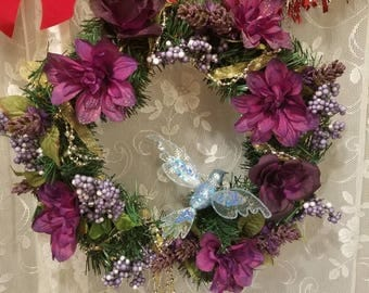 Hand crafted year round hanging wreath