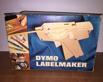 Vintage Dymo Labelmaker With Tapes, Label Maker, Cartridge, Embossing Tape