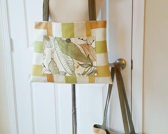Natural Tone Floral Tote Bag