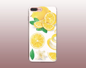 Lemon Clear TPU Phone Case for iPhone 8- iPhone 8 Plus - iPhone X - iPhone 7 Plus-iPhone 7- iPhone 6 - iPhone 6S - iPhone SE - Samsung S8