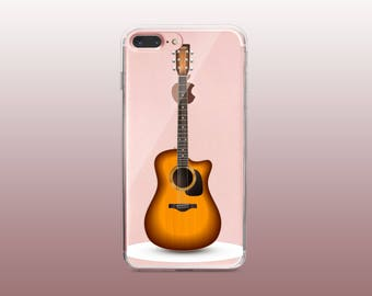 Guitar Clear TPU Phone Case for iPhone 8- iPhone 8 Plus - iPhone X - iPhone 7 Plus-iPhone 7-iPhone 6-iPhone 6S-Samsung S8