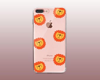 Lion Clear TPU Phone Case for iPhone 8- iPhone 8 Plus - iPhone X - iPhone 7 Plus-iPhone 7-iPhone 6-iPhone 6S-Samsung S8