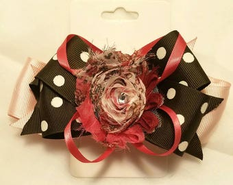 Boutique stacked hairbow