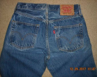 30 x 36 Levis 501XX Button Fly Straight Leg Blue Jeans