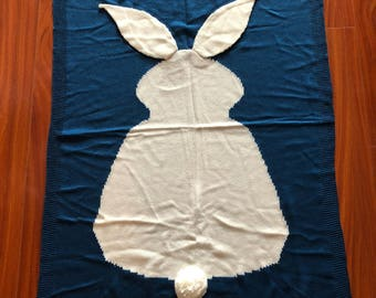 Knit Baby Bunny Blanket